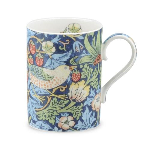 Mugg william morris strawberry thief blå