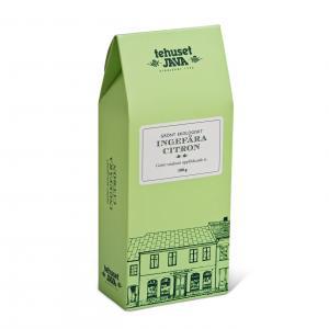 Grönt ekologiskt ingefära citron presentförpackad