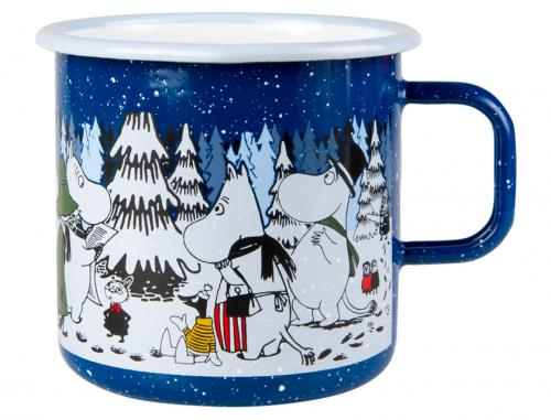 Mumin Emaljmugg 8 dl Winter Forest