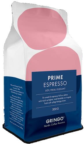 Gringo nordic coffee roasters prime espresso