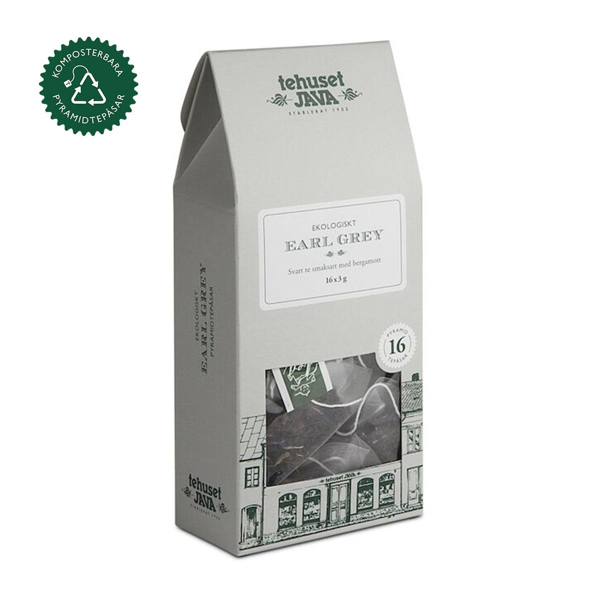 Ekologiskt Earl Grey 16 pack Tepåsar