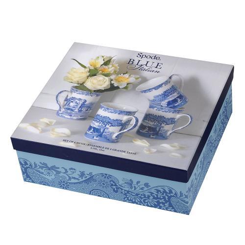 Spode Blue Italian Mugg Limited Ed 4 pack 0,34l