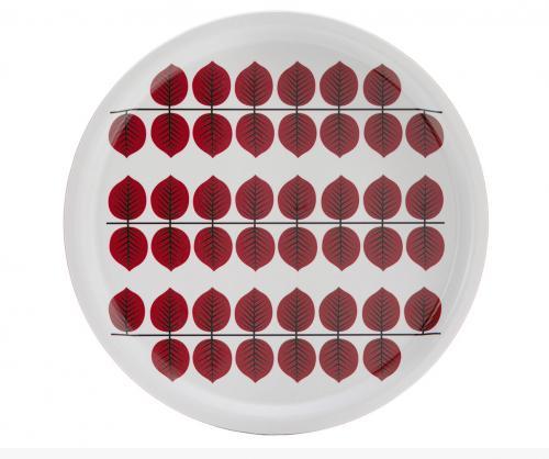 Berså Rund Bricka 31cm röd