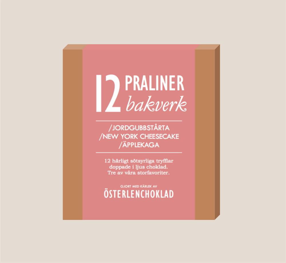 Österlenchoklad 12st praliner Bakverk