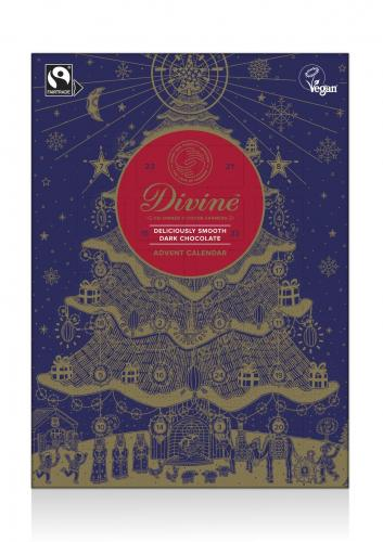 Adventskalender Divine Choklad Mörk 70%