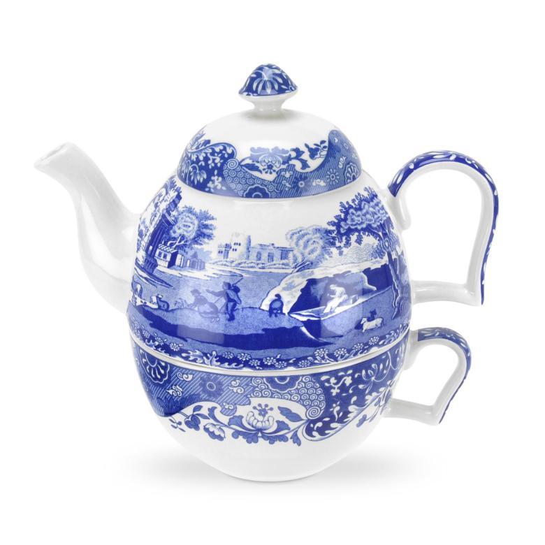 Spode Blue Italian Tea for one kanna 45 cl / kopp 30 cl