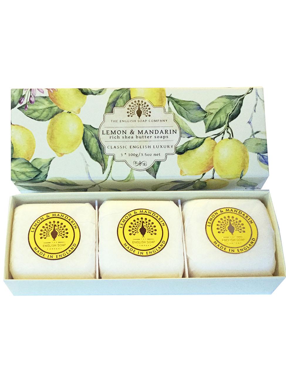 Lemon & Mandarin Soaps 3x100g