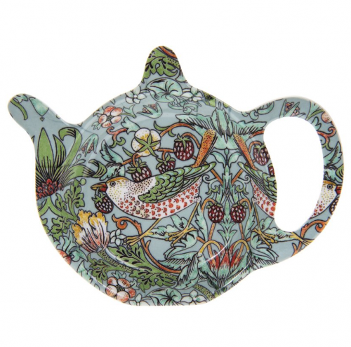 William Morris Teal Strawberry Thief Tepåsfat