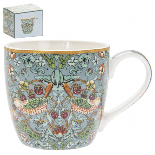 William Morris Teal Strawberry Thief Frukostmugg