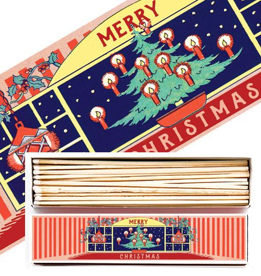 Archivist Tändstickasask Braständare Merry Christmas