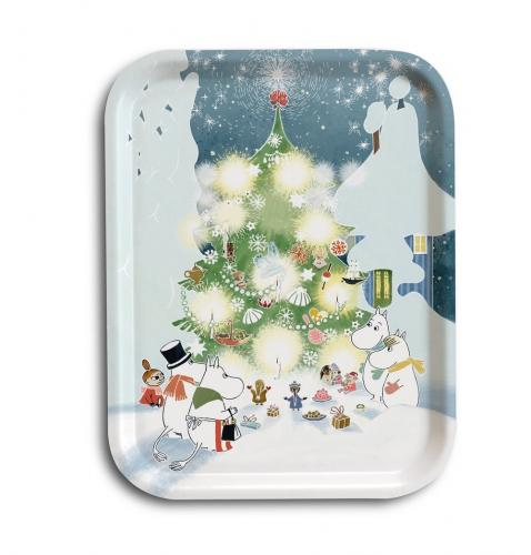 Mumin Bricka Christmas Tree 27x20cm