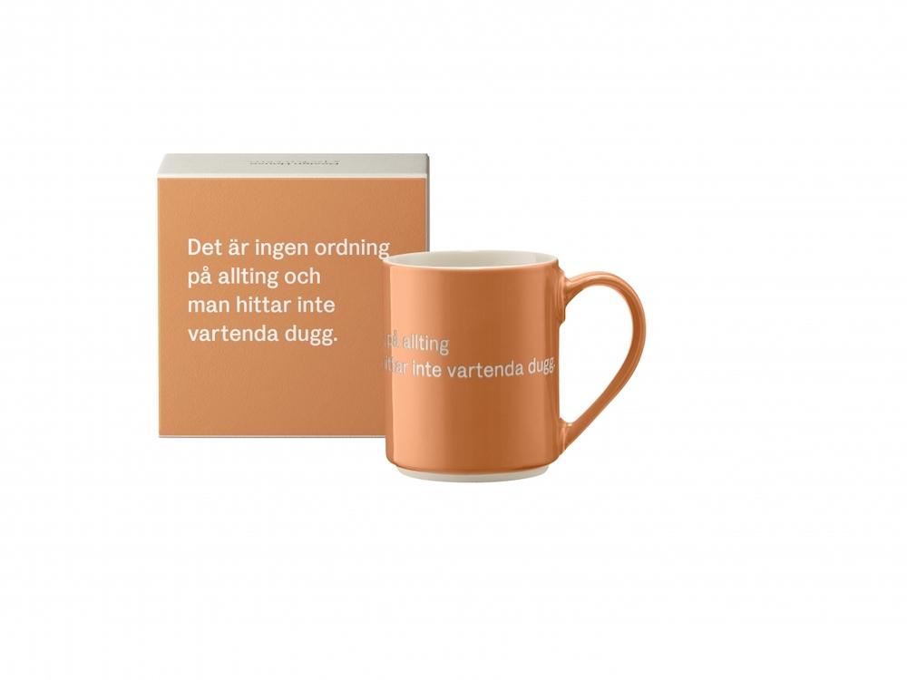 Astrid Lindgren mugg Det är ingen ordning...Orange