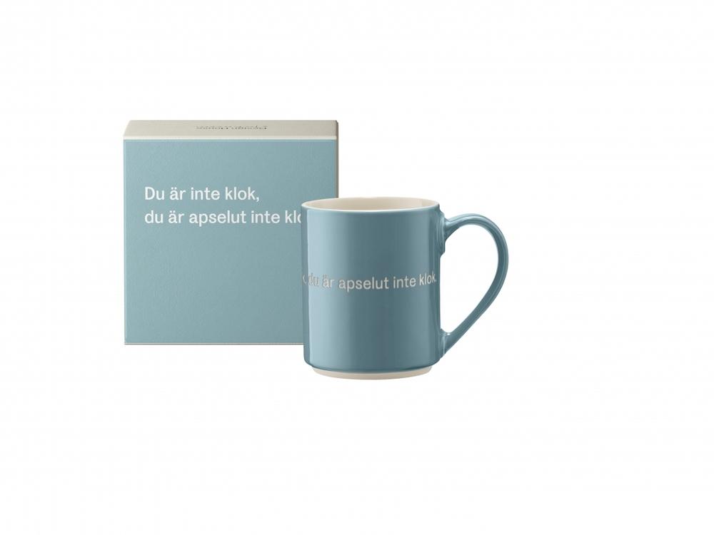 Astrid Lindgren mugg Du är inte klok...Ljusblå