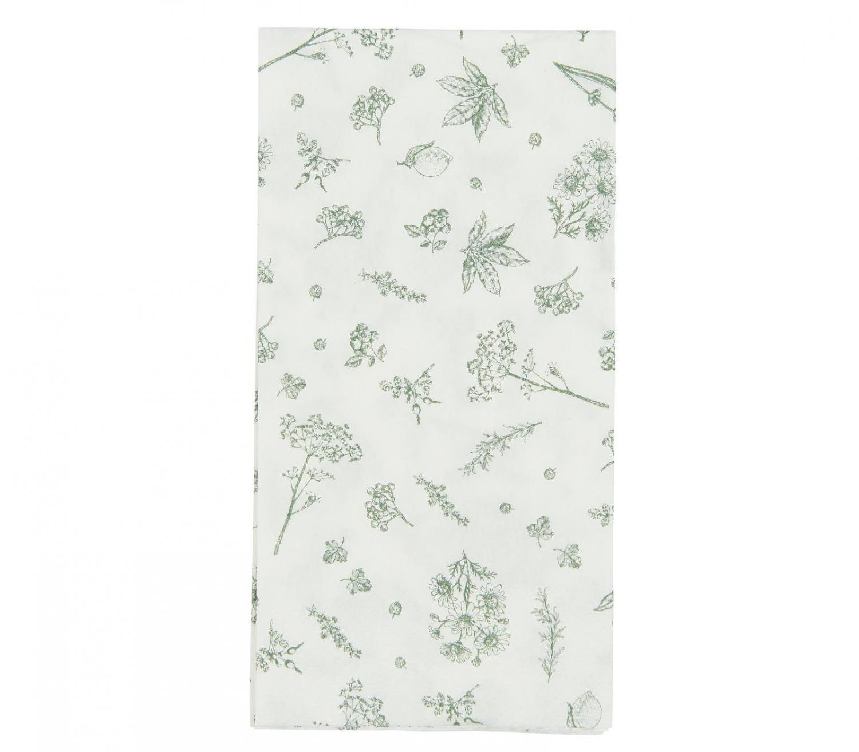 Servett Buffe Grön Blomster 16-pack