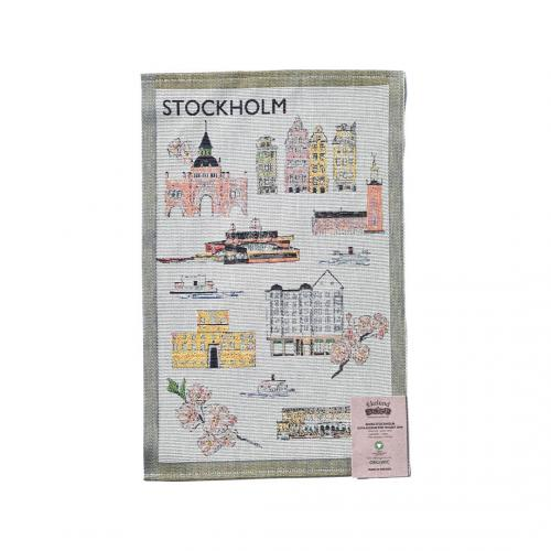 Ekelund Tehuset Javas Stockholm Handduk 35x50cm