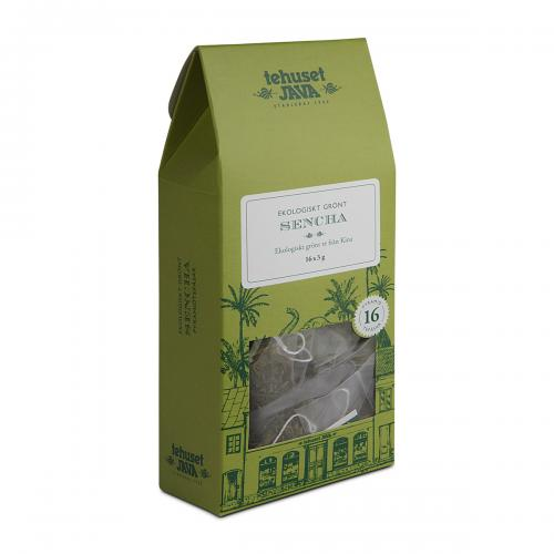 Ekologiskt Grönt Sencha 16 pack Tepåsar