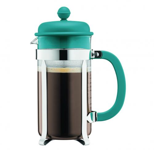 Bodum Colors Caffettiera 8 kopp turkos