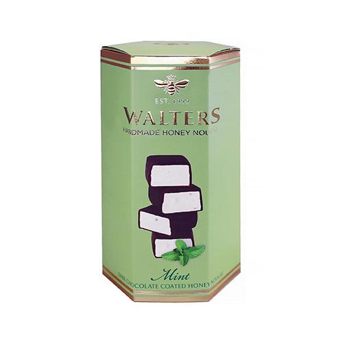 Walters Nougat mörk choklad Mint 140g