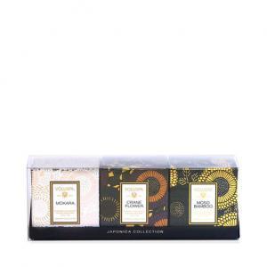 Voluspa Japonica Mini Pedestal Gift 3-pack