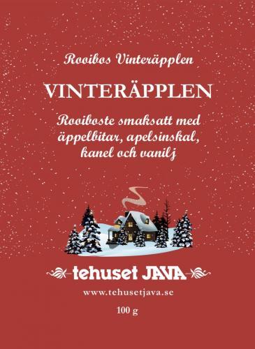 Tehuset Java Rooibos Vinteräpple Förpackning 100g
