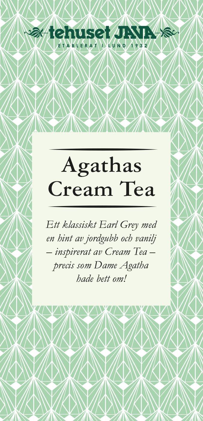 Agathas Cream Tea Förpackad 100g