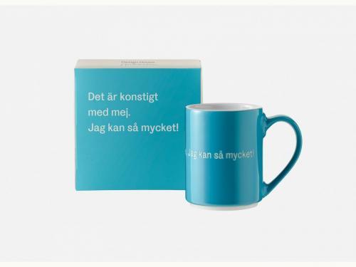 Astrid Lindgren Mugg Det är konstigt med mig turkos