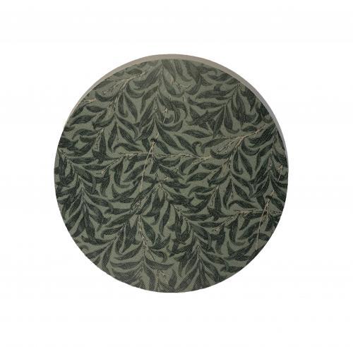 Bladverk Grytunderlägg 21cm Grön på Grön Botten