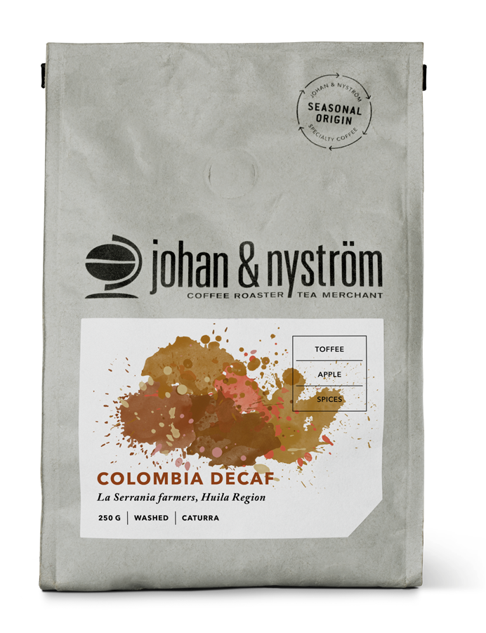 Colombia Decaf 250g Förpackning