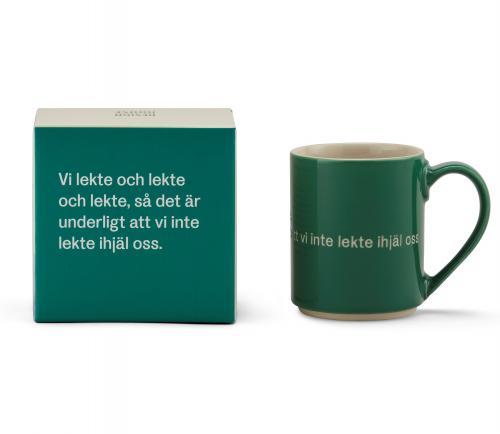 Astrid Lindgren Mugg Vi Lekte Och Lekte Och Lekte Grön