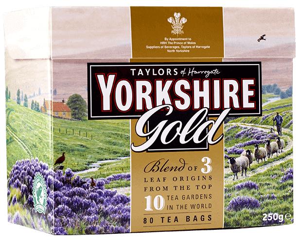 Yorkshire Tea GOLD 80 Tepåsar
