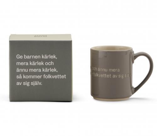 Astrid Lindgren Mugg Ge Barnen Kärlek Grå