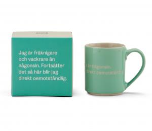 Astrid Lindgren Mugg Jag Är Fräknigare Och Vackrare Än Någonsin Grön
