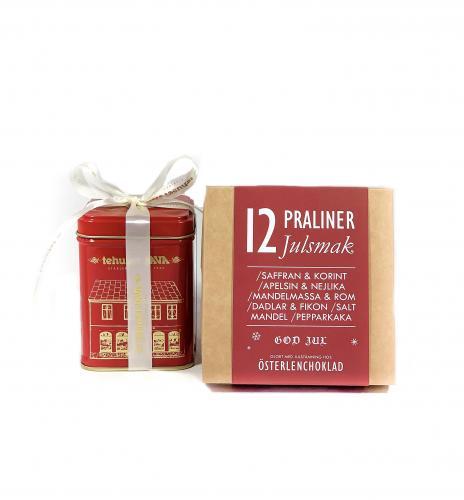 Julpresentpåse te och praliner