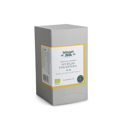 Ekologisk Rooibos Syrlig Ingefära Citron 16 pack Tepåsar i folie