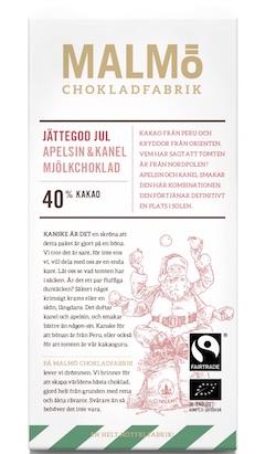 Malmö Chokladfabrik Jättegod Jul  40%