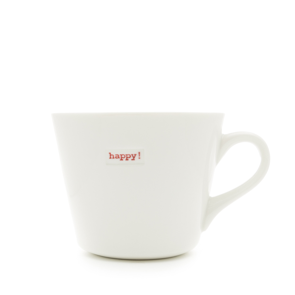 Standard Bucket Mug Happy 350ml