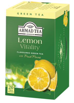 Ahmad Lemon Green Tea Påsar