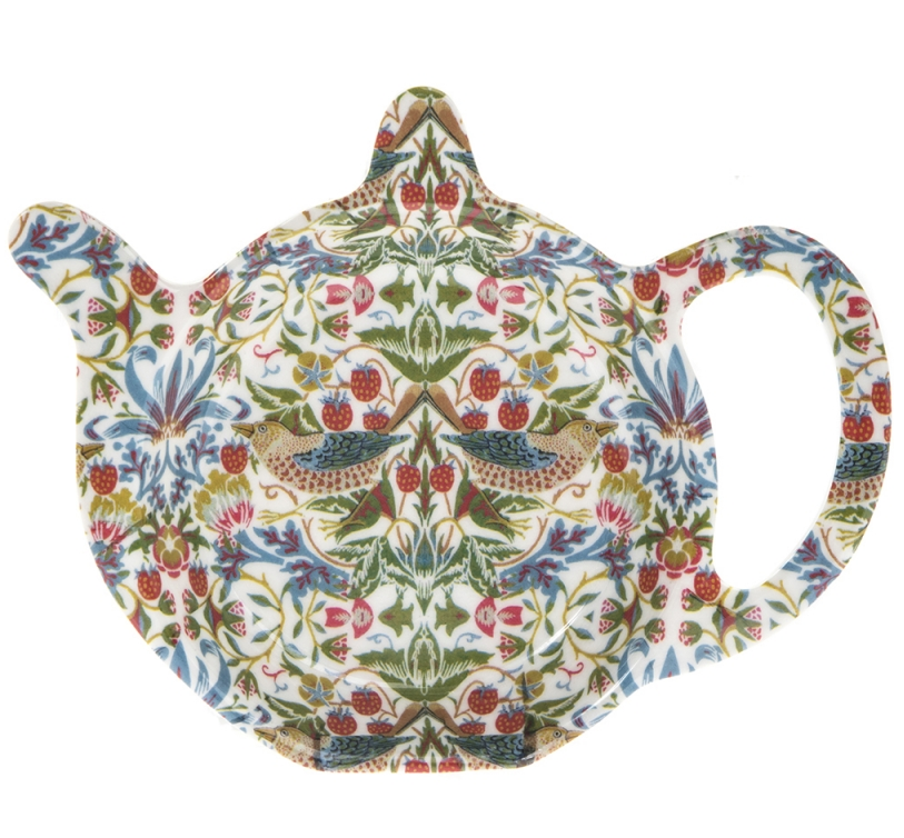William Morris Tepåsfat Strawberry Thief vit