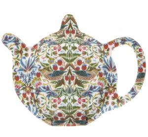 William Morris tepåsefat Strawberry Thief vit
