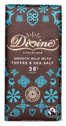 Divine Mjölkchoklad med Toffee & Seasalt 38% 90g