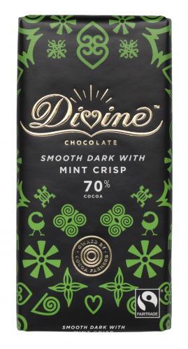 Divine Mint Choklad 70% 90g