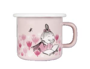 Mumin Emaljmugg 2,5dl Trädgården rosa