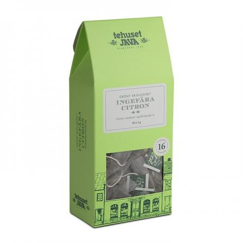 Grönt Ekologiskt Ingefära Citron 16 pack Tepåsar