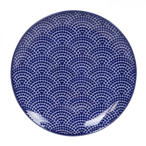Tokyo Design Studio Nippon Blue Tallrik Dots 16cm