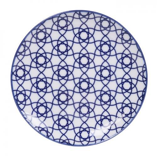 Tokyo Design Studio Nippon Blue Tallrik Stripe 16cm