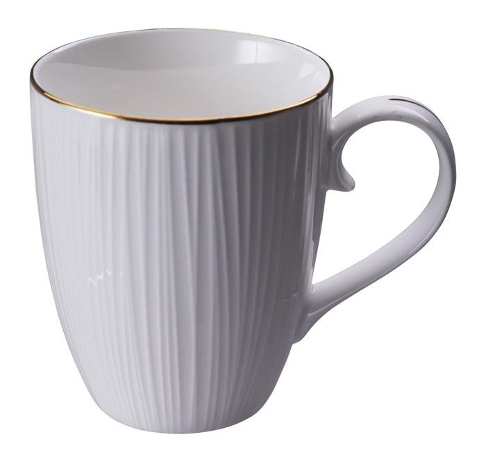 Tokyo Design Nippon White w Golden Rim Lines Mug