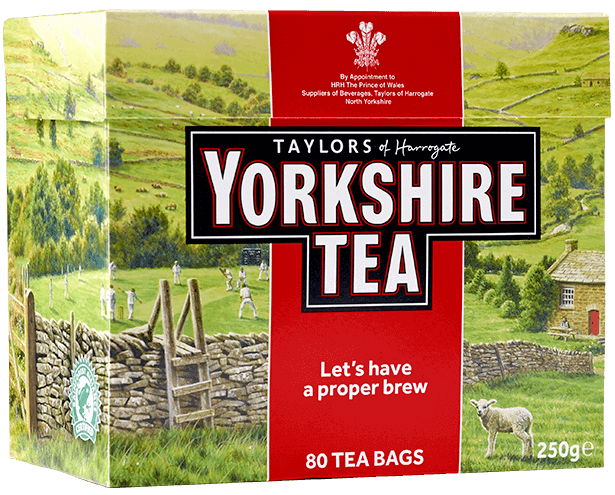 Yorkshire Tea 80 Tepåsar 250g