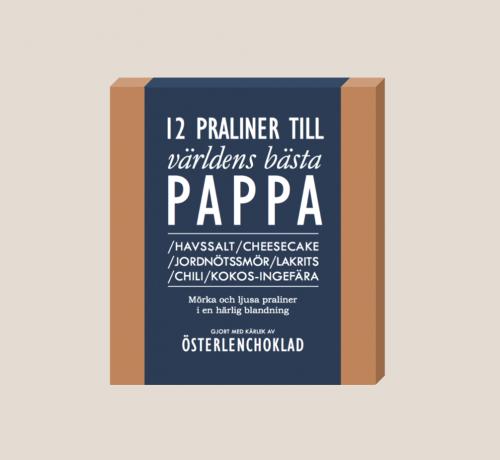 Österlenchoklad 12 Praliner Pappa
