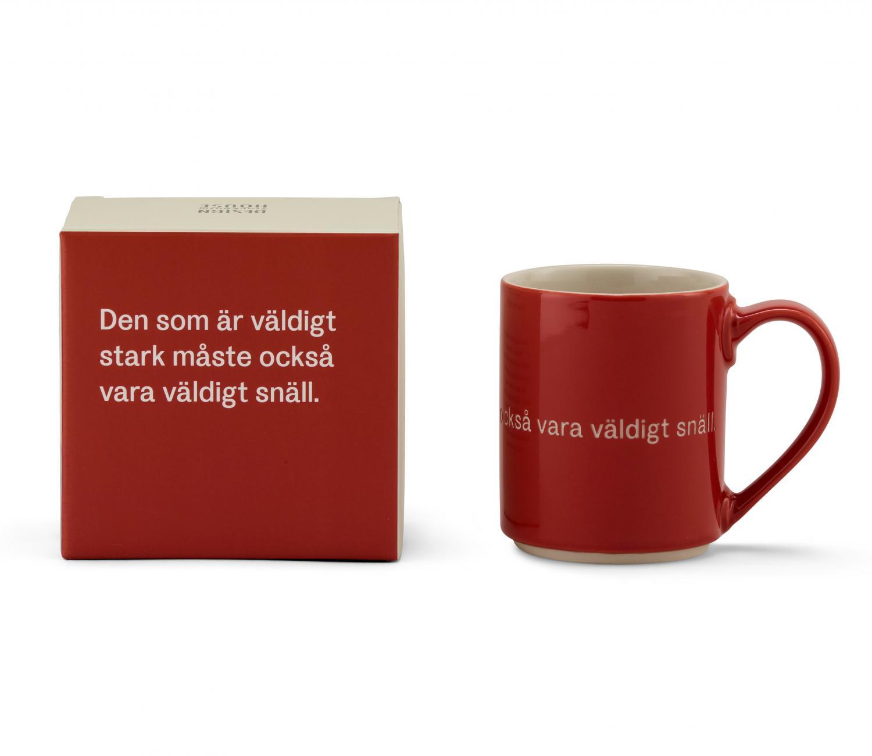 Astrid Lindgren Mugg Den Som Är Väldigt Stark Röd