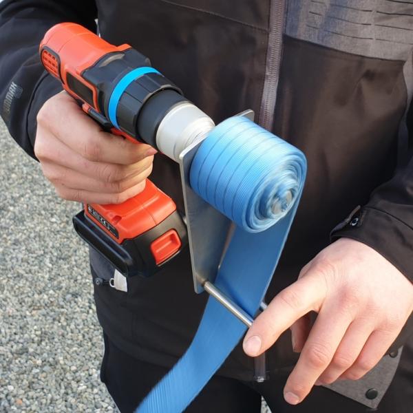 Dynello Bandupprullare Accu Winder - orange skruvdragare